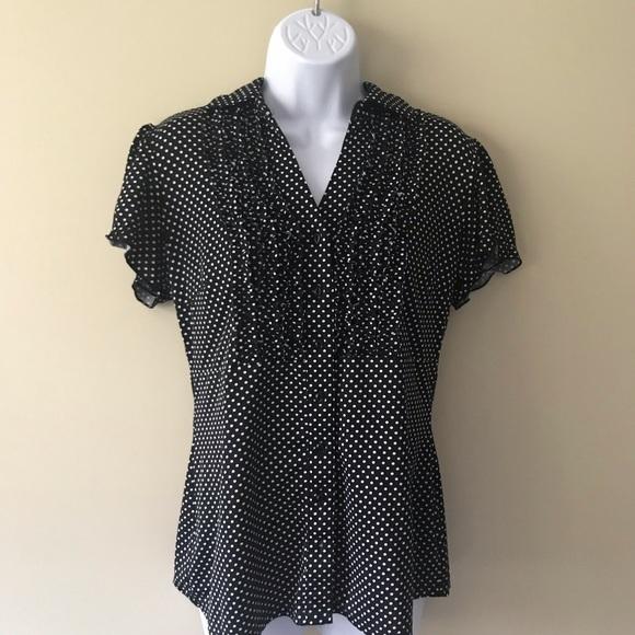 d0d00c9f Dress Barn Tops   Dressbarn Polka Dot Medium Button Down Shirt ...